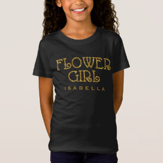 Flower Girl Gold Faux Glitter Custom Shirt