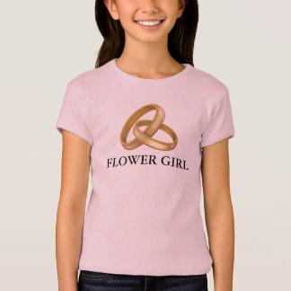 Flower Girl Gold Wedding Rings Clipart Shirt