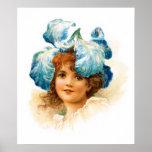 Flower Girl in Blue