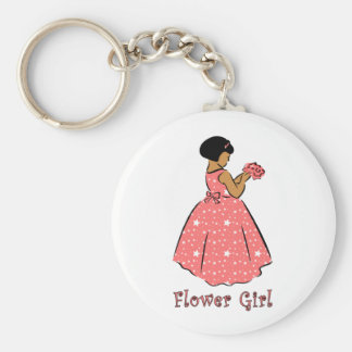 Flower Girl in Coral Key Chains