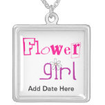Flower Girl Jewellery Square Pendant Necklace