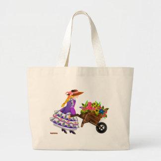 Flower Girl Jumbo Tote Bag