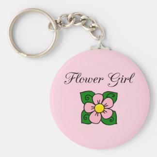 Flower Girl Key Chain