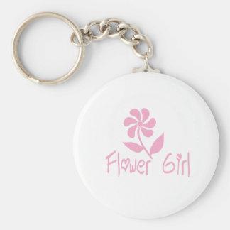 Flower Girl Key Ring
