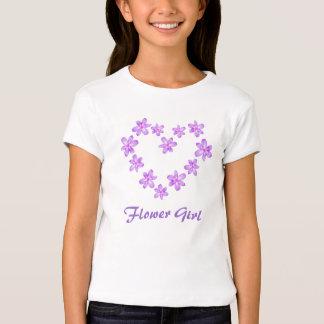 Flower Girl Lilac Floral Design T-Shirt