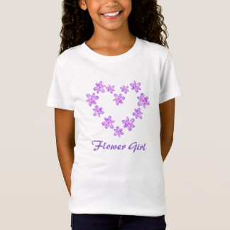 Flower Girl Lilac Floral Design T-Shirt