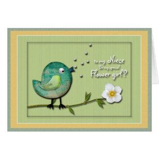 Flower girl Niece Invitation Greeting Card