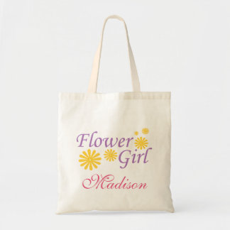 Flower Girl Personalised Tote Bag