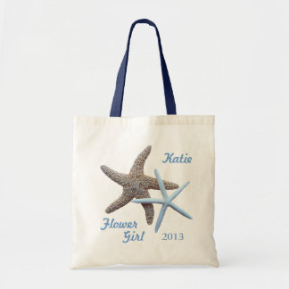 Flower Girl Personalized Beach Wedding Budget Tote Bag
