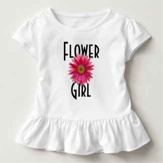 Flower Girl Pink Gerbera Daisy Wedding Toddler T-Shirt