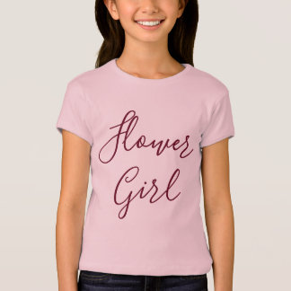 Flower Girl Pink T-Shirt