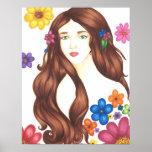 """Flower Girl Poster Matte (16"""" x 20.36"""")"""