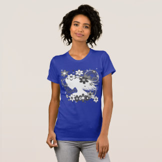 Flower Girl Purple Abstract T-Shirt