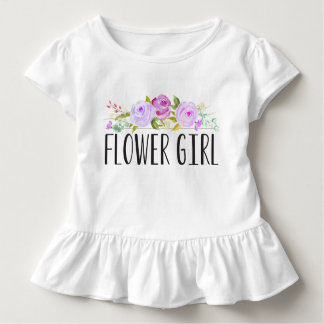 Flower Girl Purple Toddler Tee | Bridesmaid