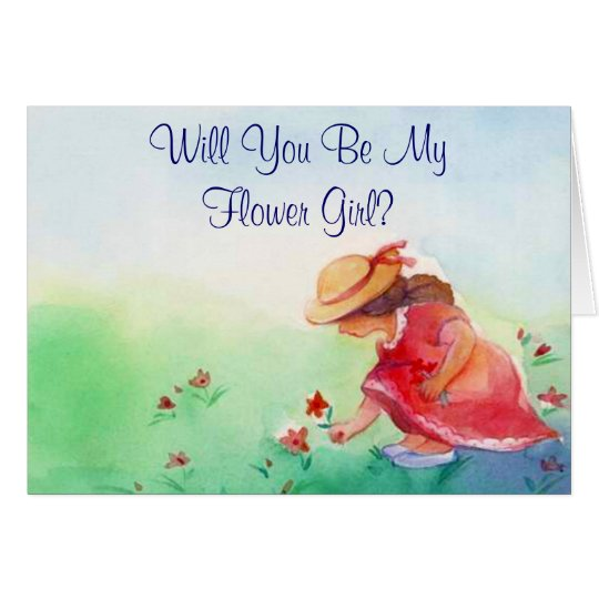 Flower Girl Request Card Cards Invite Invitation
