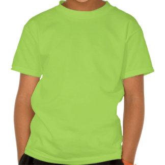 Flower Girl Retro Script Black on Green T Shirt
