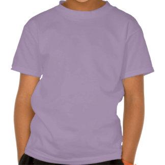 Flower Girl Retro Script Black on Purple Tshirt