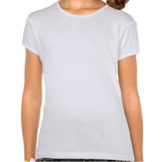 Flower Girl Retro Script Black on White Tee Shirts
