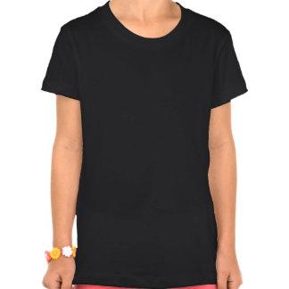 Flower Girl Retro Script White on Black T Shirts