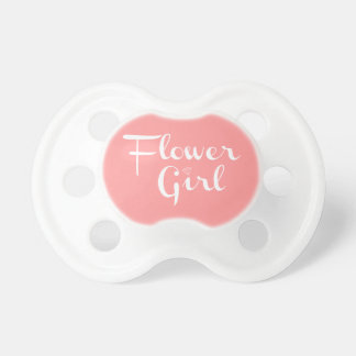 Flower Girl Retro Script White on Peach Dummy