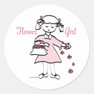 Flower Girl Round Sticker