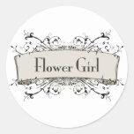 *Flower Girl Round Stickers