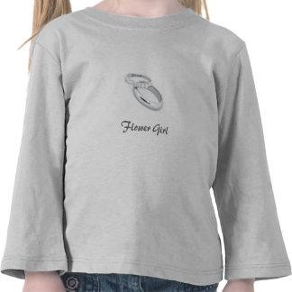 Flower Girl/Silver Wedding Bands Tshirts