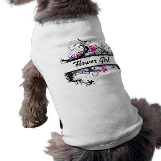Flower Girl Sleeveless Dog Shirt