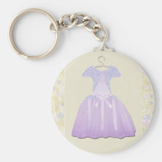 Flower Girl Spring time Basic Round Button Key Ring