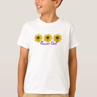 Flower Girl Sunflowers T-Shirt