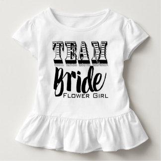 Flower Girl Team Bride Hand Lettered Tee Shirts