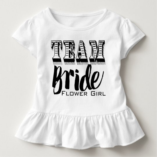 Flower Girl Team Bride Hand Lettered Toddler T-Shirt