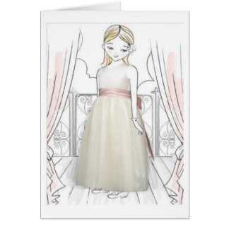 Flower Girl Thank You Greeting Card