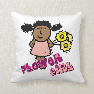 Flower Girl Throw Cushion