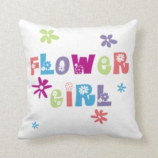 Flower Girl Throw Cushions