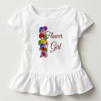 Flower Girl Toddler Ruffle Wedding T- Dress
