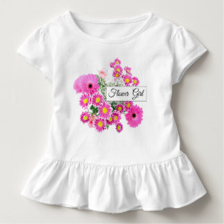 Flower Girl Toddler Ruffle Wedding Tee