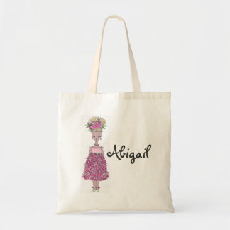 Flower Girl Tote Bag - Personalize (Abigail)