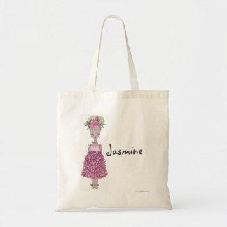 Flower Girl Tote Bag - Personalize - Jasmine