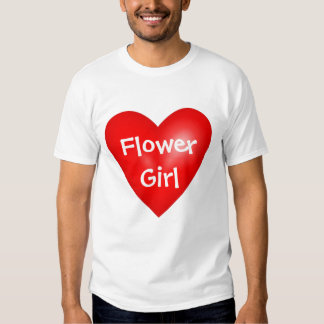 Flower Girl Valentine Wedding Tee Shirts