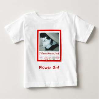 Flower Girl Valentine's Day Wedding T-shirt