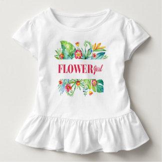 Flower Girl Watercolor Tropical Destination Weddin Toddler T-Shirt