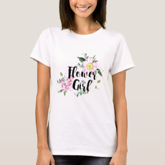 Flower Girl Watercolor Wedding T-Shirt