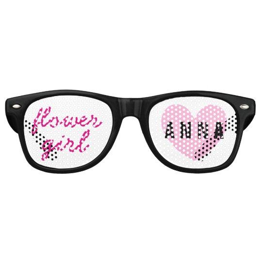 Flower Girl Wedding Favour Black Pink Name A03