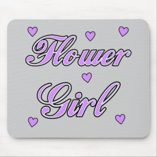 Flower Girl Wedding Hearts Mouse Pad