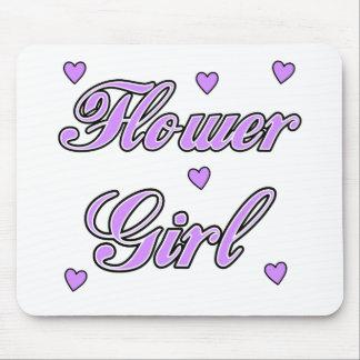 Flower Girl Wedding Hearts Mousepads