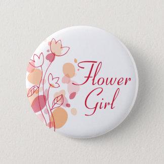 Flower girl wedding pin / button