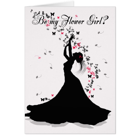 Flower Girl Wedding Request With Female Catching F