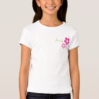 Flower Girl with Name - Girls Baby Doll Shirts