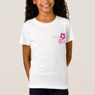 Flower Girl with Name - Girls Baby Doll T-Shirt